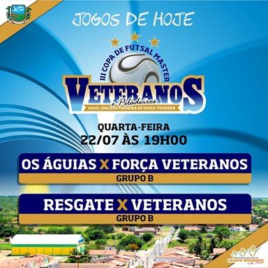 III COPA DE PELADEIROS  - TABELA - 22.07 - CAMPO REDONDO
