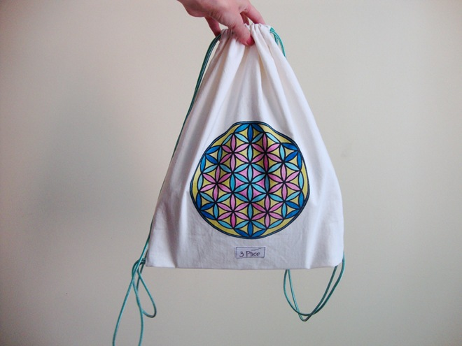 3 Ptice backpack drawstring blue violet flower of life (2)