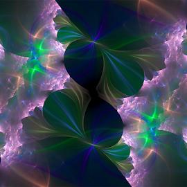 Ambient Light by Cassy 67 - Illustration Abstract & Patterns ( purple, blue, digital art, fractal art, flowers, fractal, digital, fractals )