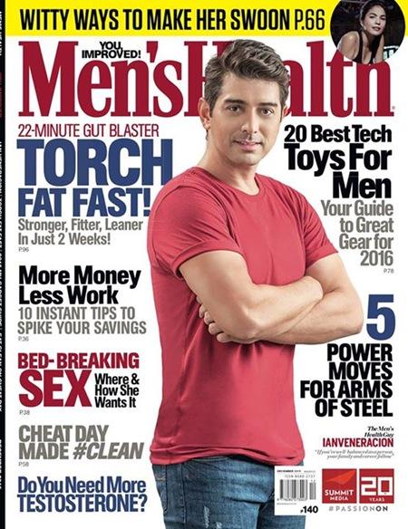 Ian Veneracion - Men's Health PH Dec 2015