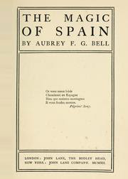 Cover of Aubrey Bell's Book The Magic of Spain