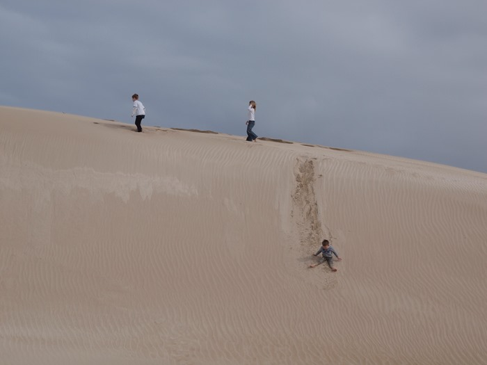 virtù - playing in the dunes at Fowlers Bay