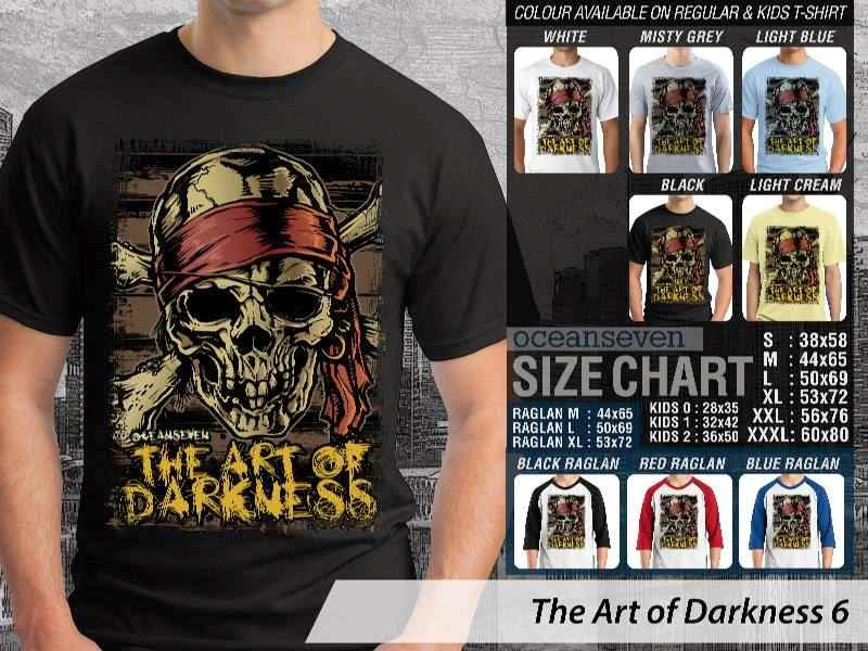 KAOS keren skull tengkorak pirate bajak laut The Art of Darkness 6 distro ocean seven