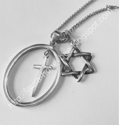 Cross and Star of David - Holocaust Remembrance Day http://laura-honeybee.blogspot.com/2016/01/why-wear-star-of-david.html