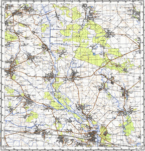 Map 100k--m36-051--(1987)