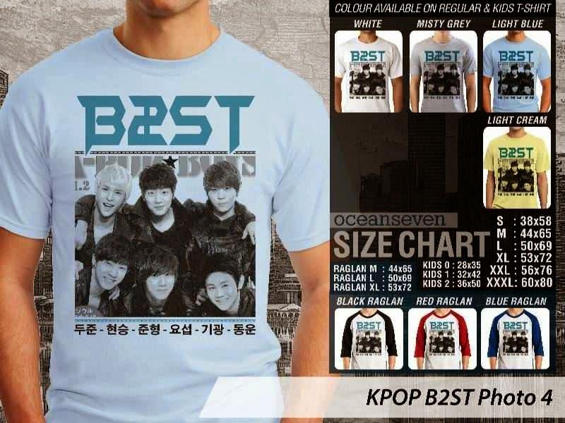 Kaos B2st 4 Photo K Pop Korea distro ocean seven
