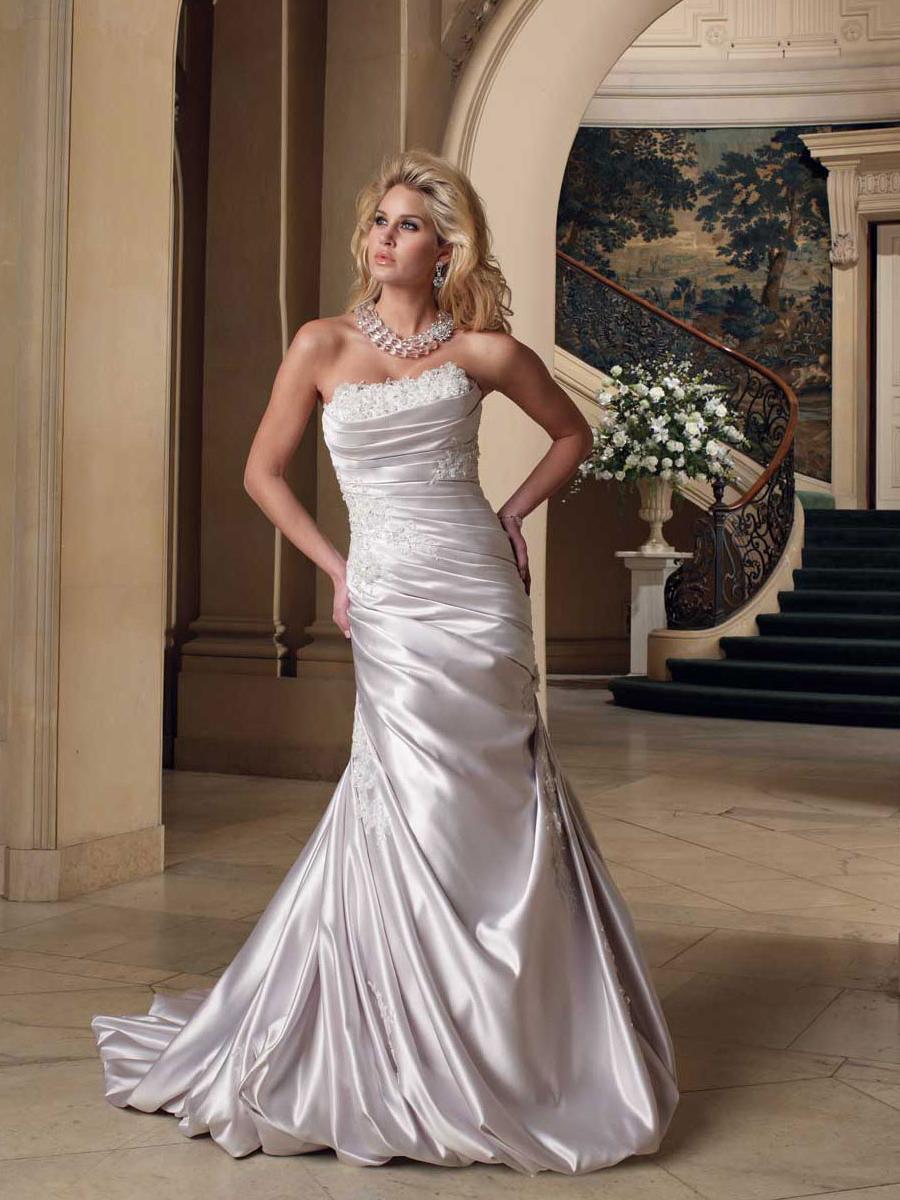 Strapless Satin Slim Bridal