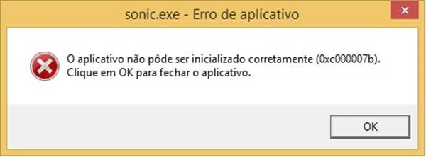 O aplicativo não pode ser inicializado corretamente (0x000007b)