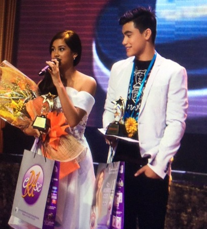 Ylona Garcia and Bailey May - PMPC Star Awards for TV 2015 Female and Male Star of the Night