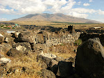 Mt. Ara, near canyon, Armenia.
