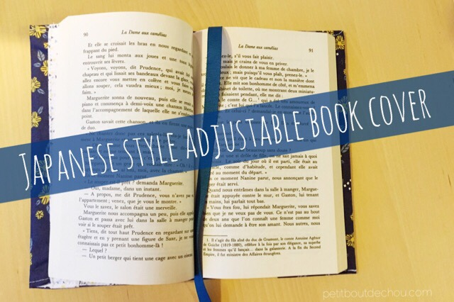 Japanese style adjustable book cover