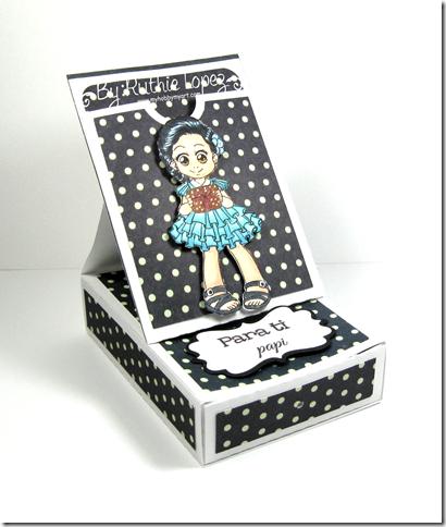 Zuri Artsy Craftsy -  Beatriz - Gift card box with pocket easel card - Ruthie Lopez