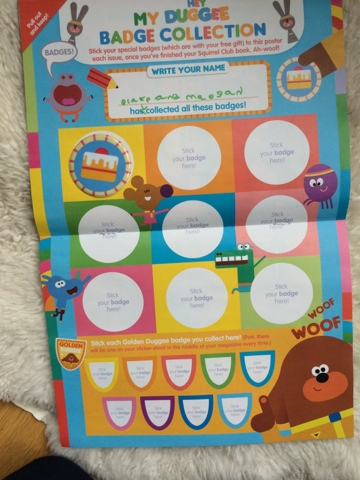 Hey Duggee Magazine - issue 1 - baking badge - Emma in Bromley