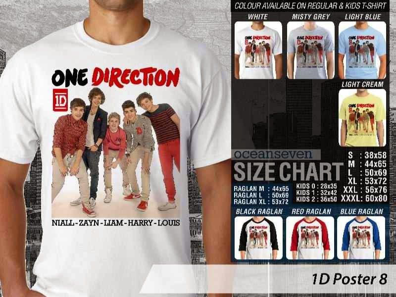 Jual kaos 1D One Direction 8 Musik Boy Band