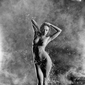 That water is cold! by Tony Wadham - Nudes & Boudoir Artistic Nude