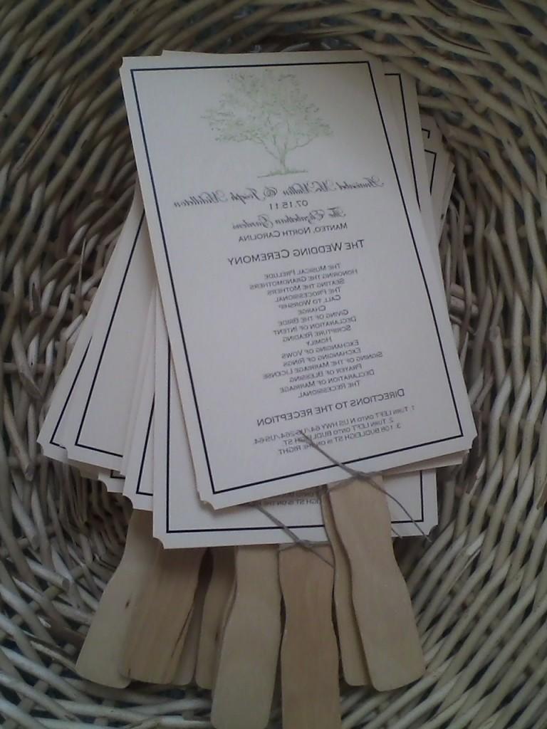 Wedding Program Fan  local