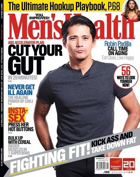 Robin Padilla for Men's Health PH Sept. 2015