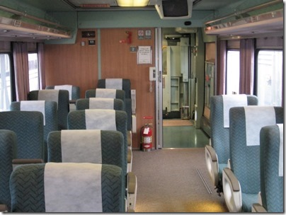 IMG_0692 Amtrak Cascades Talgo Pendular Series VI Business Class Interior at Union Station in Portland, Oregon on May 10, 2008