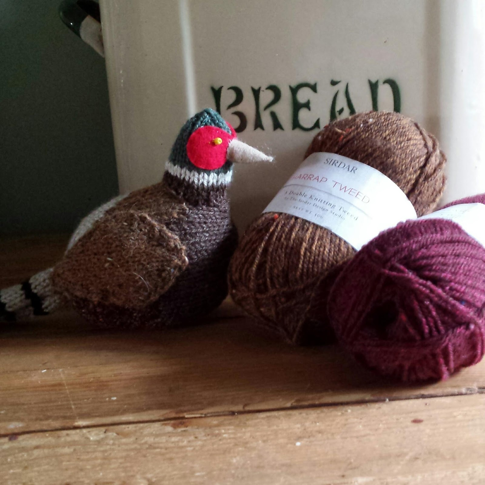 Knit for Victory: Knitted Pheasant