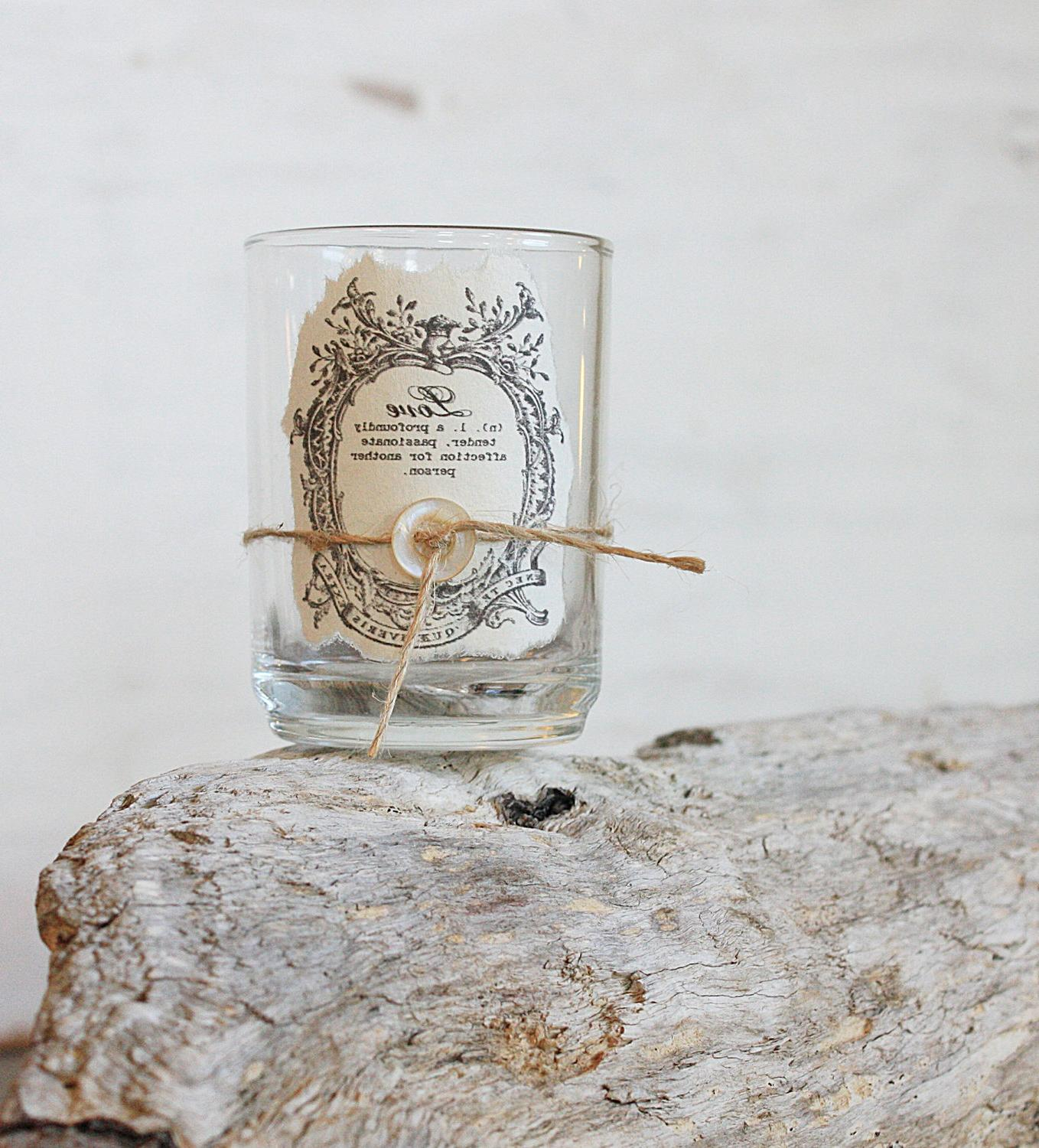 Rustic Candle Favors - Rustic