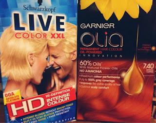 Schwarzkopf Live XXL Absolute Platinum Garnier Olia Intense Copper