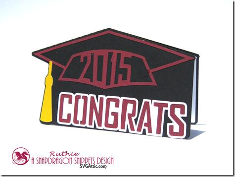 Graduation Cap Card - SnapDragon Snippets - Ruthie Lopez - Graduacion 3