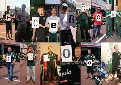 100 тысяч поклонников на Facebook - фотографии членов команды с буквами