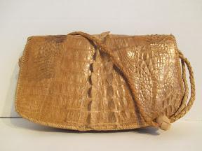 Crocodile Hide Handbag