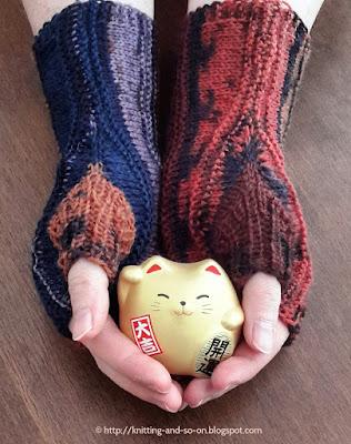Knitting and so on: Strata Fingerless Gloves