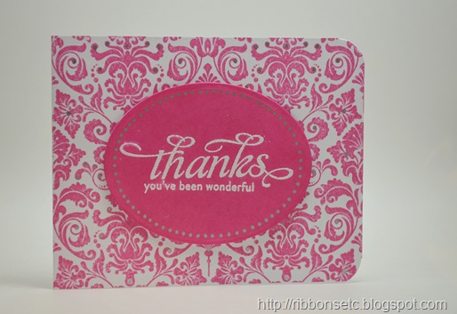 impression obsession damask cover-a-card, Waltzingmouse stamps say it loud