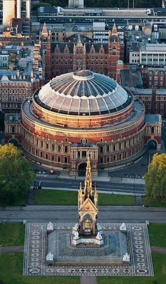 Royal Albert Hall and Memorial, London