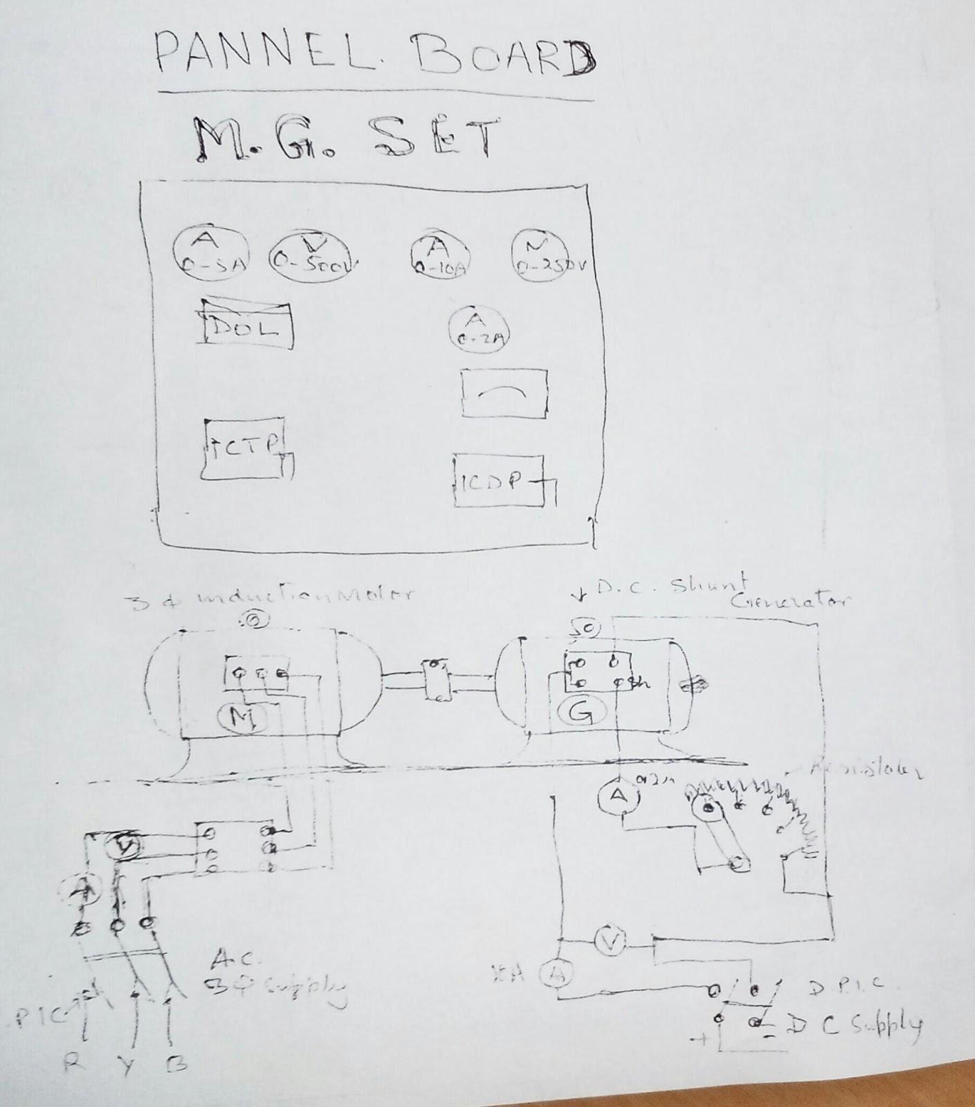 Motor Generator Circuit Diagram MG Set Control Panel CTI - Circuit diagram dc generator