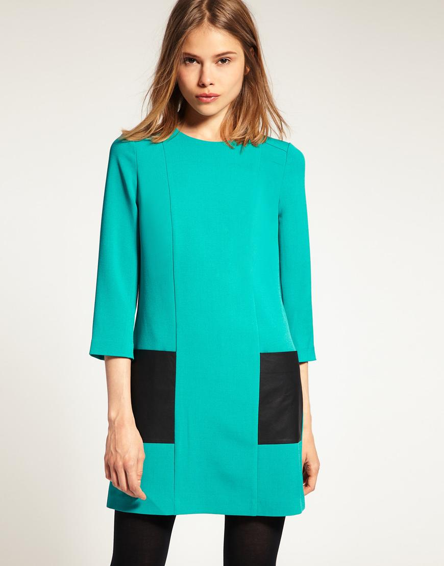 Shift Dress in Colour Block