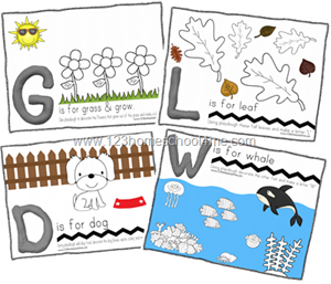 FREE Playdough Play mats to help toddler and preschoolers learn the alphabet