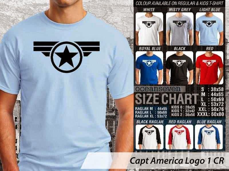 Jual Kaos Captain America 1 Amazing Superhero