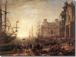 Claude_Lorrain_-_Port_Scene_with_the_Villa_Medici_-_WGA04978