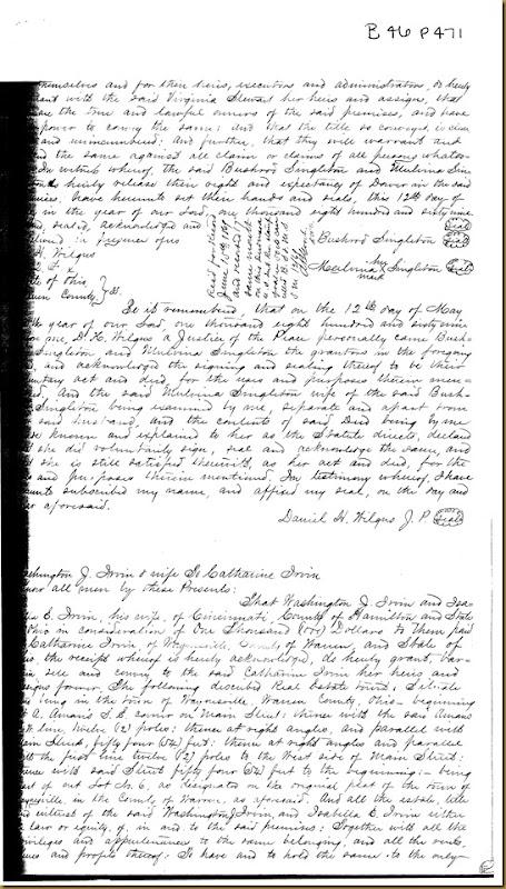 Washington J. Irvin,Isabella E. IrvinCincinnati, Hamilton Co,OH,1869