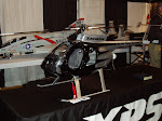 MD500 from Airstar International, powered by a Jet Cat turbine.  Extreme Link radio, Futaba Servos and Gyro.  Xotic medium silver base coat and candy black.  Weighs in at about 30 lbs