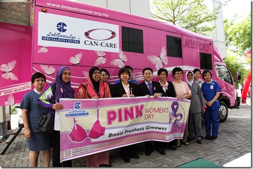 Pink Women Day at Loh Guan Lye Specialists Centre on Macalister Road, Penang