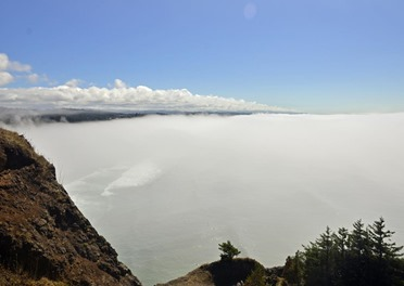 Fog over Agate Beach