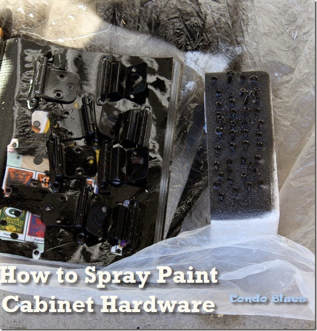 how to paint cabinet hardware