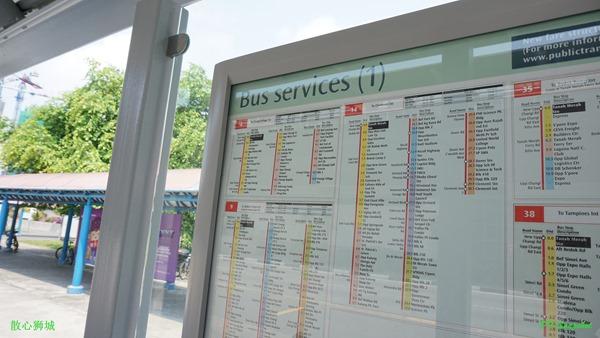 详细的巴士路程表