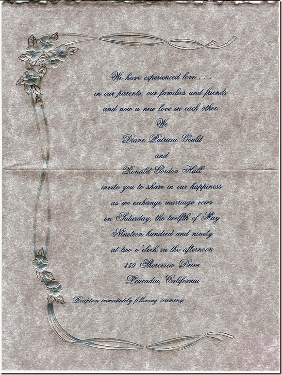 GOULD_Diane & HALL_Ron_wedding invitation_12 May 1990_LeucadiaSanDiegoCalifornia