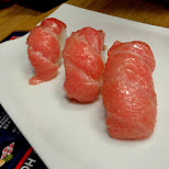 ootoro, blue fin tuna sushi, rarely found but true quality in Holland in IJmuiden, Noord Holland, Netherlands
