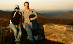 Fialka Grigorova, left, and myself, right, at the top of Hawksbill Mountain, Shenandoah National Park in Virginia, April 2009.