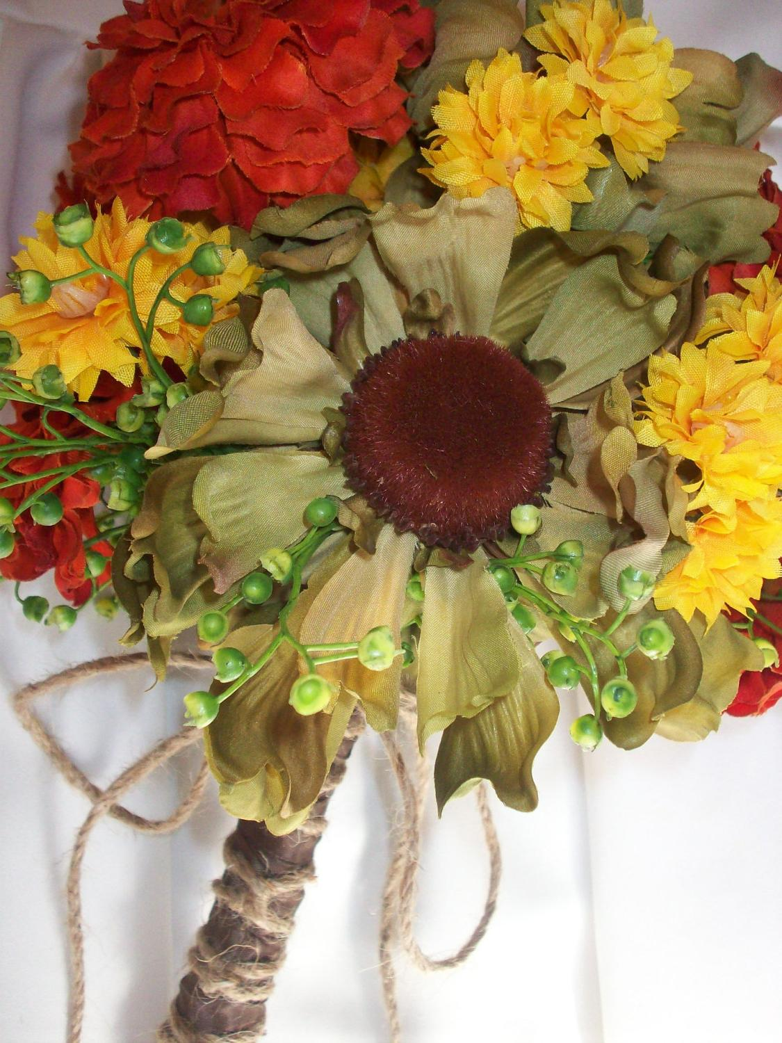 Autumn Sunflower Zinnia
