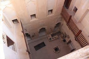 Fort Jabreen interior cortyard viewd from above
