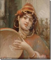 brun-guillaume-charles-1825-19-orientalin-mit-tamburin-1452341