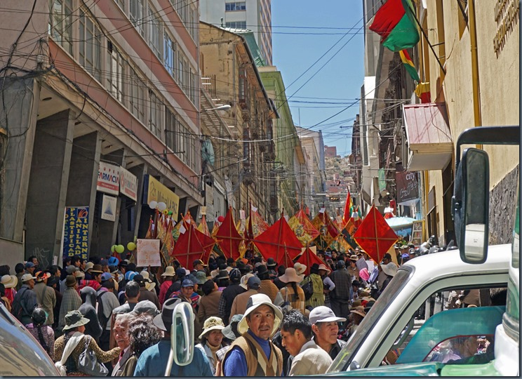 La Paz Wahlkundgebung
