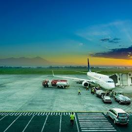 Boarding by Alexander Nainggolan - Transportation Airplanes ( airport, travelling, indonesia, airplane, boarding, runaway, lombok )